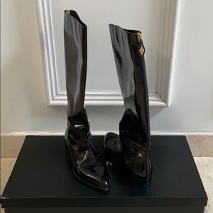 Black Chanel Boots